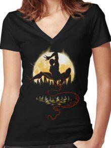 Venomous Night Women's Fitted V-Neck T-Shirt