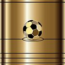 Golden Football Pitch iPod /  iPhone 5 / iPhone 4 Case  by CroDesign
