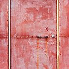 Framed Red Steel Door by Michael Deeble