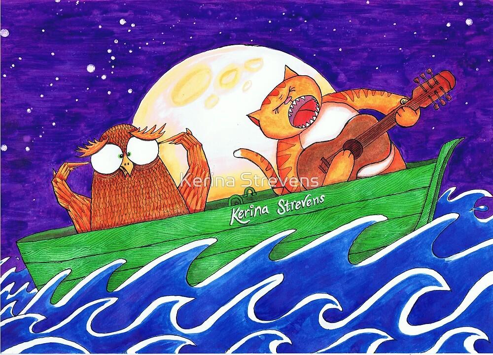 Alternative Owl and Pussy Cat by Kerina Strevens