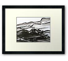 ridge valley forest..... Framed Print