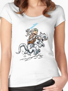 Calvin and Hoth Women's Fitted Scoop T-Shirt