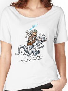 Calvin and Hoth Women's Relaxed Fit T-Shirt