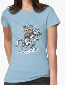 Calvin and Hoth Womens Fitted T-Shirt