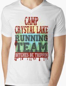 Camp Crystal Lake Running Team Mens V-Neck T-Shirt