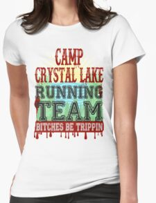 Camp Crystal Lake Running Team Womens Fitted T-Shirt