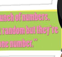 Tina Belcher -Phone Number Sticker