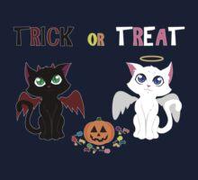 Trick or Treat Kittens Kids Tee