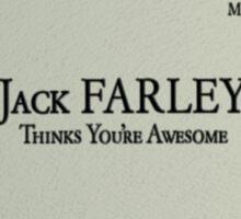 Jack Farley Business Card Sticker
