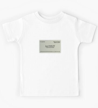 Jack Farley Business Card Kids Tee