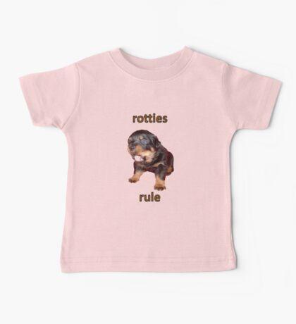 Rotties Rule Baby Tee