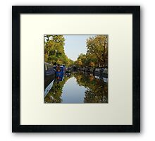 Canal Reflection Framed Print