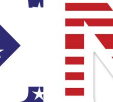 Sigma Nu Letters in American Flag Sticker