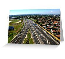 Tullamarine Freeway Greeting Card