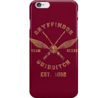 Harry potter gryffindor quiddtch team iPhone Case/Skin