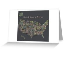 United Beers of America Greeting Card