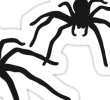 3 large spiders colorful pattern disgusting black Sticker