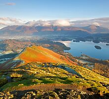 Catbells bathed in morning light by Martin Lawrence