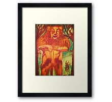 WIZARD OF OZ COWARDLY LION Framed Print