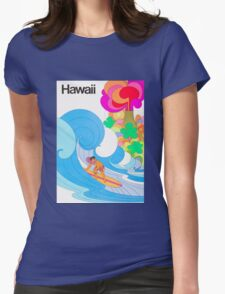 Hawaii Travel Poster Womens Fitted T-Shirt