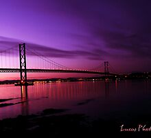 FORTH ROAD BRIDGE BY NIGHT by Luca Cosner