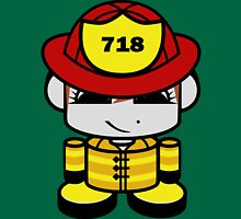 Firefighter Hero'bot 2.0 Womens Fitted T-Shirt