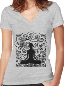Om Namaste Yoga Women's Fitted V-Neck T-Shirt