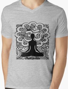 Om Namaste Yoga Mens V-Neck T-Shirt