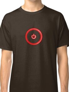 Red Power Button Classic T-Shirt