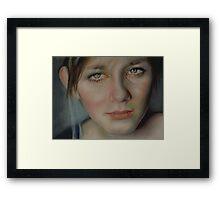 Her Face Framed Print