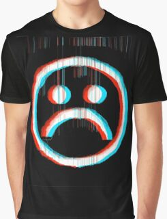 Sad Glitch Graphic T-Shirt