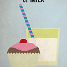 Cup Cake & Milk by David Wildish