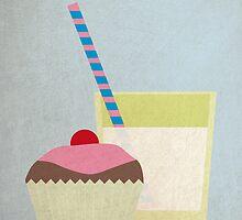Cup Cake & Milk by David Wildish