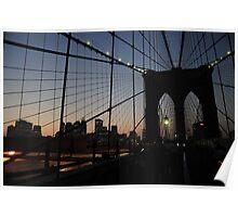 Brooklyn Bridge at Twilight, NYC Poster