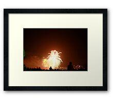 nye firework sydney Framed Print