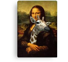 Mona Lisa Loves Giraffes Canvas Print