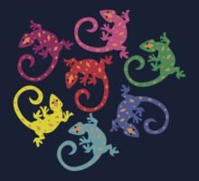 Colorful Lizards One Piece - Short Sleeve
