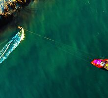 Kite Surfing in Western Australia #3 by Al Edgar
