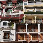 Houses and balconies in Positano by avresa