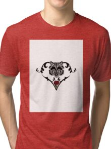 Wolf Design (with white background) Tri-blend T-Shirt