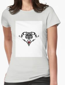 Wolf Design (with white background) Womens Fitted T-Shirt