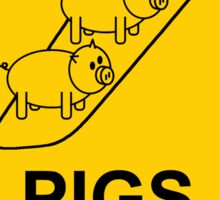 Caution - Pigs on the Wing Sticker