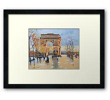 The Arc De Triomphe from Eugene Galien Laloue 1890 Framed Print
