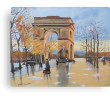 The Arc De Triomphe from Eugene Galien Laloue 1890 Canvas Print