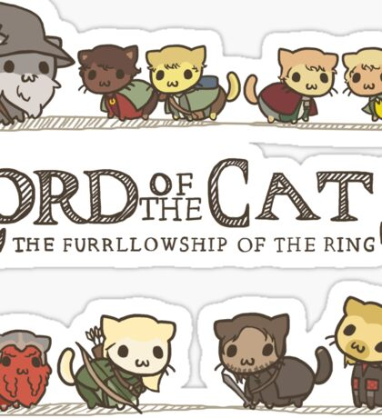 The Furrlowship of the Ring Sticker
