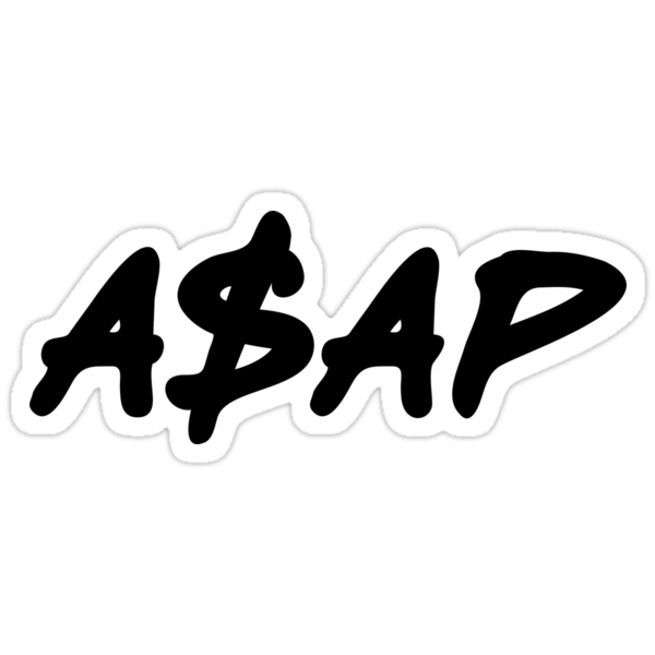 """ASAP Always Strive And Prosper"" Stickers by ..."