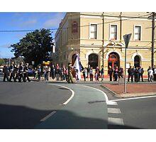 Anzac  Day - 2012 Echuca - March - Cerebus, Cadets Photographic Print