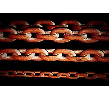 Rusting Chains Photographic Print