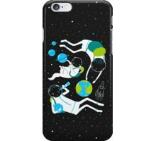 A Day Out In Space - Black iPhone Case/Skin