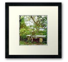 'The Little Reader' Framed Print